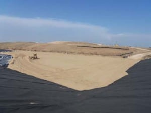 New cell construction Barton County Sanitary Landfill.